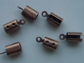 6 x veterklemmen 4,5mm koper 11808/1813
