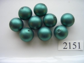 10 stuks glasparels rond 14mm 2151