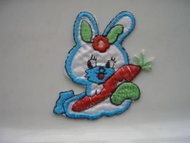 A331- strijk applicatie konijn ca. 6cm hoog AANBIEDING
