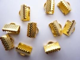 CH.143.10- 10 x lintklemmetjes van 10mm breed goudkleur