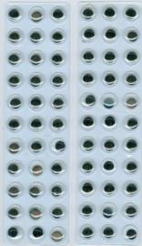 CE802603/1933- 66 stuks zelfklevende wiebeloogjes van 10mm