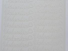 ST.1128- Valentin wit 10x20cm