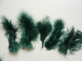 CE800804/2812- 15 stuks Marabou veren donkergroen van 7 tot 14cm