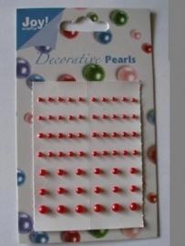 JOY6020/0006- Joy! crafts kaartje met zelfklevende hlafronde parels rood