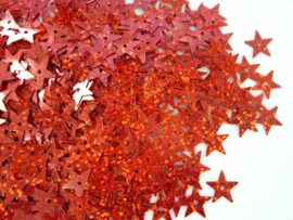 10gram pailletten sterretjes van 12mm in glitter rood (grote hoeveelheid!)