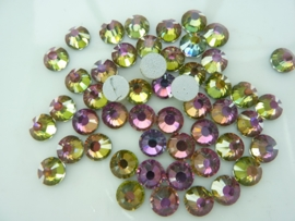 000544- ruim 50 kristalsteentjes SS30 6.4mm vitrail crystal AB - SUPERLAGE PRIJS!
