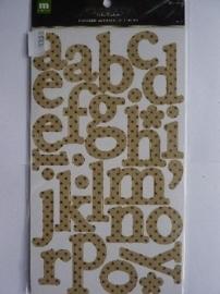 5795- 2 vellen met Making Memories chipboard letters van 5.4cm hoog OPRUIMING