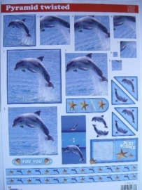 637- pyramide knipvel dolfijnen A4