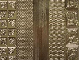 st 464HT- 3 soorten randjes met hoekjes goud