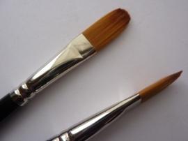 PS224- Royal Knight langnickel nylon penseel tong -1/2-