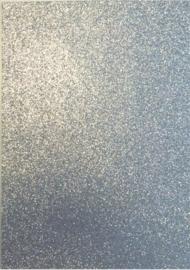 CE800201/1531- 5 stuks foam vellen van 22x30cm en 2mm dik zilver glitter