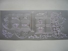 393- ramen met bloemen zilver 10x20cm