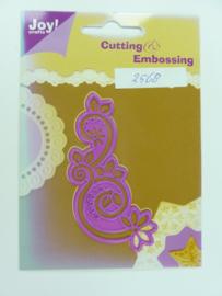 0002568- Joy Crafts stencil nr. 0020 - ornament 8.5x4cm OPRUIMING