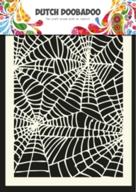 CE185071/5011- Dutch Doobadoo Dutch mask art stencil spiderweb A5