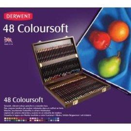 CE325006/0048- Derwent coloursoft pencil 48st in houten doos