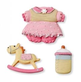 6930 196- 3-delig baby decoratie setje baby girl
