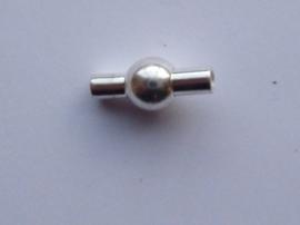 CH.230- magneetsluiting van 14x6mm voor bv leren veters tot 1.5 - 2 mm. dik