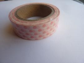 10 meter baby plakband rose rondjes