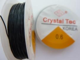 elastisch nylondraad 0.6mm zwart 15 meter - AANBIEDING EXTRA LAGE PRIJS!