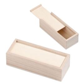 KN8735 429- 3 stuks houten potlodendoosjes 18x7x5cm