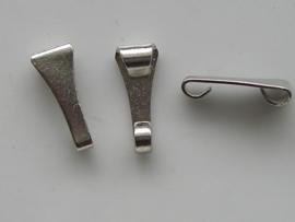3 x ringetjes voor aan hangertjes staalplated OU
