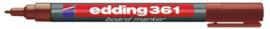 CE390361/0007- edding-361 boardmarker met punt van 1mm bruin