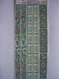 5080- bloemen, randen en hoeken 30x13cm Sharon Ann collection
