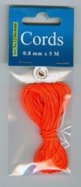 CE442000/8406- 5 meter knoopkoord / shamballa koord van 0.8mm dik neon oranje