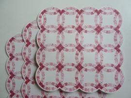 004020- 3 x scrapbook stansvellen 30.5x30.5cm oud roze decor OPRUIMING