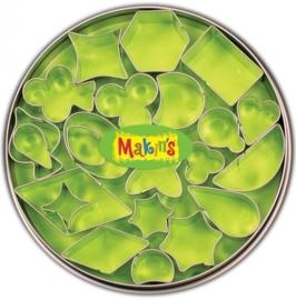 CE117918/7003- Makin`s clay uitstekerset in blik diverse vormen 22 stuks