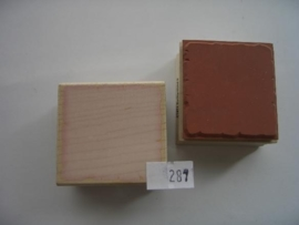287 - opruiming stempel 4x4.5cm