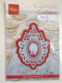 0002507- Marianne Design Creatables stencil nr.219 ornament lijst 8.5x6.5cm OPRUIMING