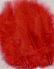 CE800804/2803- 15 stuks Marabou veren rood van 7 tot 14cm