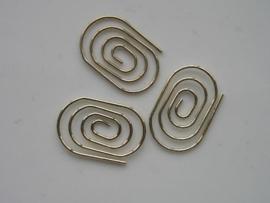 metalen tussenstuk clip ovaal 30x20 mm. goud