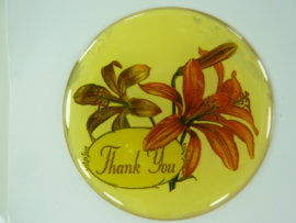 "SLK.204.A - transparante zelfklevende badge ""THANK YOU """