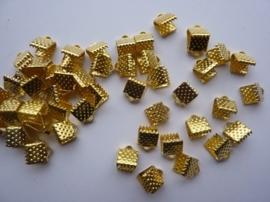 50 x lintklemmen van 6mm breed goudkleur - SUPERLAGE PRIJS!