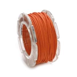 2290 624- 2 meter waxcord met nylonkern oranje 2mm dik