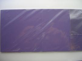 08146- 10 x luxe vierkanten kaarten linnenstructuur 13.5x13.5cm paars SPECIALE AANBIEDING