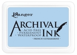 180002/0329- Ranger Archival ink coussin french ultramarine