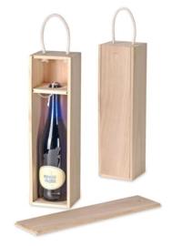 KN8735 722- houten kist voor wijnfles 37x10.5x9.5cm