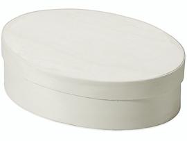 KN8735 597- 10 stuks spaan doos ovaal 11x16cm