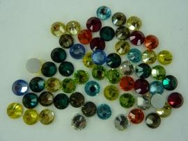 000654- ruim 50 kristalsteentjes SS30 6.4mm kleurenmix - SUPERLAGE PRIJS!