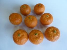 VZ.333- zakje met 8 stuks mini mandarijntjes deacoratie 3.5x3cm