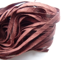 5 meter dunne imitatie suede veter van 3mm breed donkerrood OPRUIMING