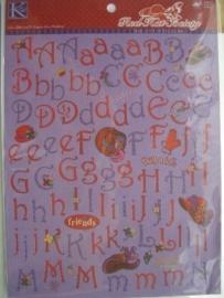 5484- K&Co alfabet stickers 2 A4 vellen met 200 stickers