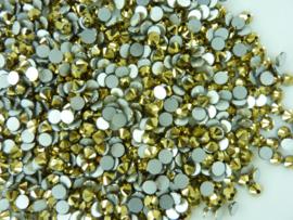 000517- 1440 kristalsteentjes SS20 4.7mm arum gold - SUPERLAGE PRIJS!