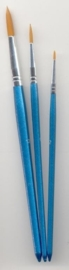 CE330109/8504- nylon penselenset 3 stuks assortiment