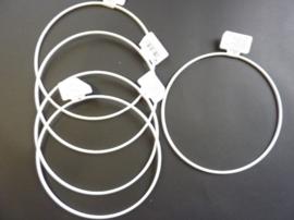 wit gelakte metalen dichte ring van 15cm doorsnee - 6770 150