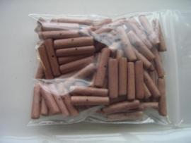 100 stuks kokoskralen van 12x3mm bruin