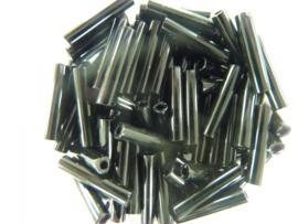 1490- 13mm glazen stiftjes zwart 13gr in een doosje - 5532 094